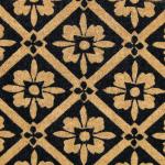 Doormat black tile design